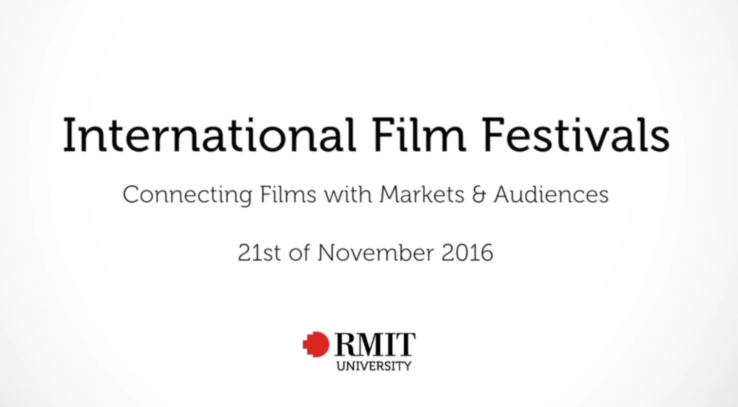 In Conversation with Clare Stewart: International Film Festivals – connecting films with markets and audiences